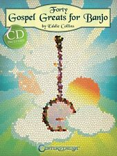 Forty Gospel Greats for Banjo Sheet Music Banjo Book and CD NEW 000001497