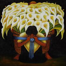 LATIN ART PRINT - El Vendedor de Alcatraces by DIEGO RIVERA 16x20 Poster