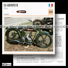 #052.19 LE GRIMPEUR 250 1928 (Moteur DRESCH-MAG) Fiche Moto Motorcycle Card