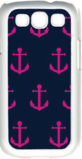 Navy Blue and Pink Faith Hope Anchor Design on Samsung Galaxy S3 Case Cover