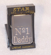 No 1 DADDY  PETROL CIGARETTE LIGHTERS  **FREE ENGRAVING ON BACK**