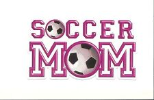 "Soccer Mom Sticker / Decal 4"" Vinyl Sports Futbol Scrapbooking Ect"