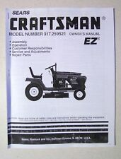 "Sears 15.5 HP Craftsman 42"" Lawn Tractor Manual"