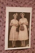 Women in Dresses w/ Handbags - Vintage Photo