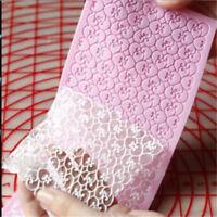 1pcs Lace Silicone Mold Sugar Craft Fondant Mat Cake Decorating Baking Tools