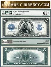 1923 $5 Silver Certificate Porthole Note FR-282 PMG Graded CU63 EPQ