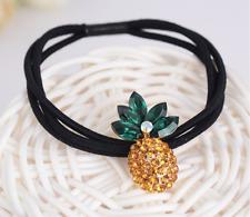 NEW Beautiful Crystal Pineapple Hair Tie/Band, UK Seller