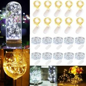 6.6ft 20 LED Battery Operated Mini LED Copper Wire String Fairy Lights Christmas