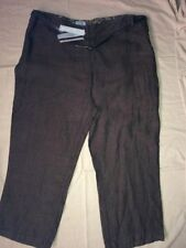 Per Una Linen Regular Capri, Cropped Trousers for Women