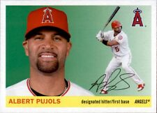 2020 Topps Archives ALBERT PUJOLS 1955 Style Base Card Angels #15
