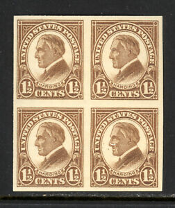 SCOTT 631 1926 1.5 CENT HARDING REGULAR ISSUE BLOCK OF 4 MNH OG VF CAT $12!
