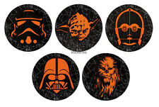 10 Glow in the Dark Star Wars Halloween Stickers Party Goody Bag Favor Supply
