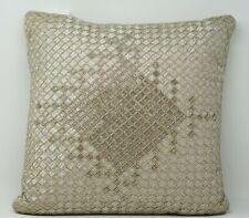 "Hotel Collection Dimensions 100% Cotton 16"" x 16"" Decorative Pillow - Champagne"