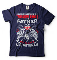 Gift For Father Never Underestimate T-shirt Veteran Dad Gifts Father's Day Gift