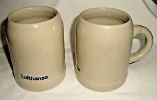 LUFTHANSA German Airlines 2 vintage ceramic beer mugs cups #1
