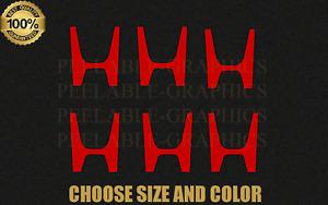"""6 Honda Wheel Center Cap """"H"""" Vinyl Decal Decals Sticker Stickers"""