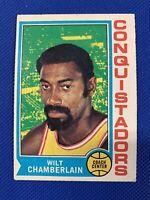 🔥 1974-75 Topps #250 Wilt Chamberlin NBA HOF Card #250 Conquistadors, LA Lakers