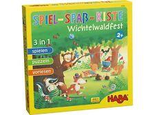 HABA Kinderspiel Spiel-Spaß-Kiste Wichtelwaldfest 300785 ab 2 Jahre