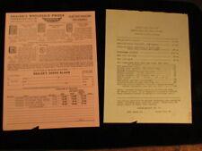 Vintage paper advertising Brochure 1950's Parmak electric Fencers price order