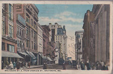 Baltimore St From Charles St Baltimore Maryland   Stamped 1918  # D2