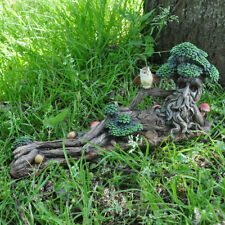 Tree Ent Lying Down with Owl Fantasy Garden Outdoor Sculptures Magic Myth 39687