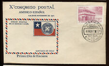 Chile #411 10th Postal Union of the Americas Fdc Nice Cachet Ua G3445