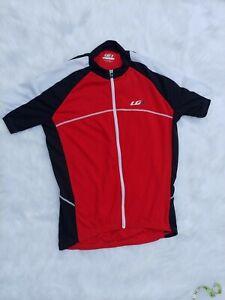 LOUIS GARNEAU Short Sleeve CYCLING JERSEY White/red/Black Full Zip Size S