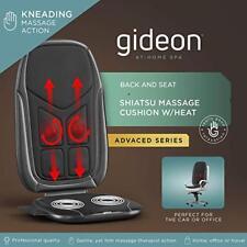 Gideon Shiatsu Massage Seat Cushion Heat Deep Kneading Back Massager CAR & HOME