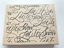 """DENAMI DESIGN  2004 """"LET IT SNOW"""" BACKGROUND - HOLIDAY, CHRISTMAS,WINTER - NEW"""