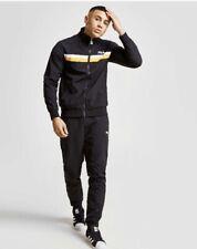 Fila Woven Tracksuit Jacket & Pants Set Soccer Football Gym Training Black XS