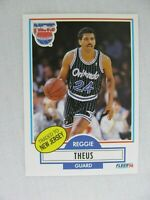 Reggie Theus Orlando Magic New Jersey Nets 1990 Fleer Basketball Card 136