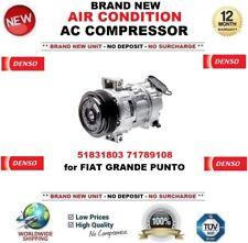 DENSO AIR CONDIZIONE AC COMPRESSORE OEM: 51831803 71789108 PER FIAT GRANDE PUNTO