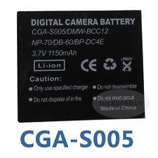 3.7V Li-ion Battery for PANASONIC Lumix DMC-FX07 MODEL NO CGA-S005E/1B DMW-BCC12