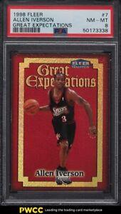 1998 Fleer Great Expectations Allen Iverson #7 PSA 8 NM-MT