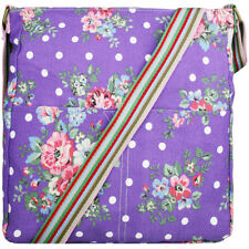 Girls Shoulder School Bag Cross Body Satchel Butterfly Floral Oilcloth/Canvas