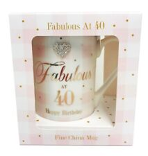 Birthday Mug Gift Ladies 40th Present Age Diamante Pink Women Her Luxury Cute