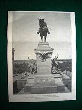Milano 1895, inaugurazione del Monumento a Garibaldi, scultore E. Ximenes