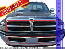 GTG 1994 - 2002 Dodge Ram 1500 2500 3500 6PC Gloss Black Billet Grille Grill Kit