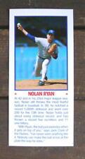 "Nolan Ryan 5""X11"" Photo Placard Mask Booklet Cut Mint Oddball"