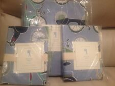 3pc POTTERY BARN KIDS Bicycle Bike Duvet Cover Standard Shams F Q Full Queen NWT