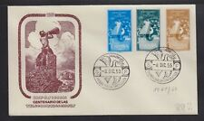 SPAIN 1955 TELECOMMUNICATIONS CENTENARY FIRST DAY COVER FDC CAT 55 EUROS