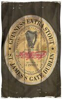 Guinness Vintage Weathered Label Cotton Tea Towel  700mm x 450mm  *GIFT OFFER*