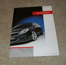 Vauxhall Vectra & Signum Irmscher Styling Accessories Brochure 2007-2008