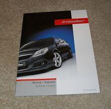 Vauxhall Vectra & Signum Irmscher Styling Accessories Brochure 2007-2008