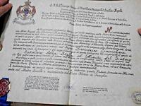 LOTTO ARALDIC ORDINE SAN.GIORGIO D'ANTIOCCHIA DIPLOMA PERGAMENA SIGILLO CERALACC