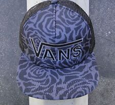 Vans Skateboard Co. Logo Drop V Blavk Trucker Unisex Mens Snapback Hat