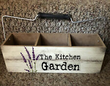 The Kitchen Garden Herb Faux Wood Window Box With Handle Planter Plants