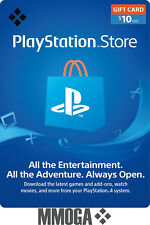 $10 USD PlayStation Network Store Card - PSN 10 US Dollar Prepaid Code - USA