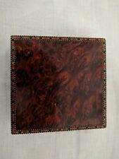 Vintage Burl Walnut Box with Marquetry Italy