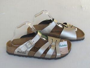 NEW Betula By Birkenstock Ladies Gold Mules Sandals UK Size 7.5 EU 41